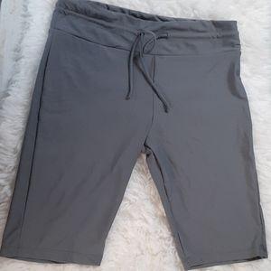 BALEAF gray drawstring Bermuda shorts